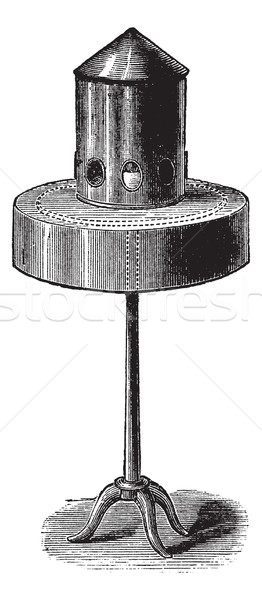 Pigeon bird feeder or bird feeder, vintage engraving. Stock photo © Morphart