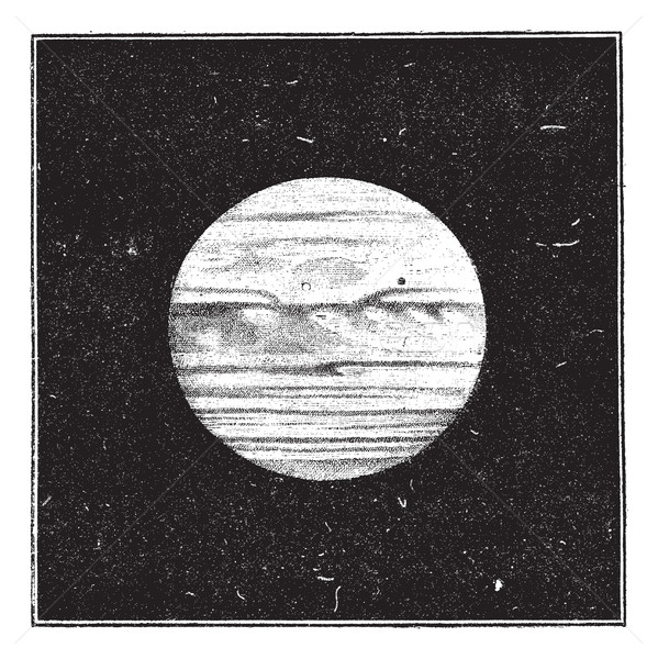 Aspect of Jupiter in December 1885 with a satellite passing the  Stock photo © Morphart