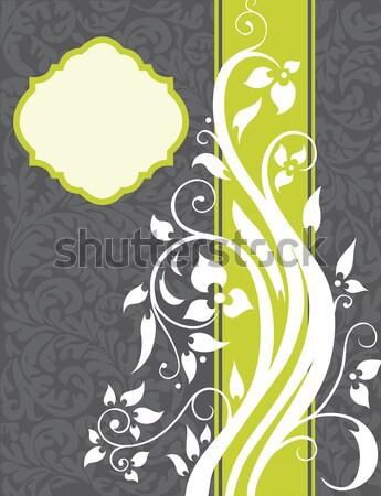 Stock foto: Jahrgang · Einladungskarte · eleganten · Retro · abstrakten