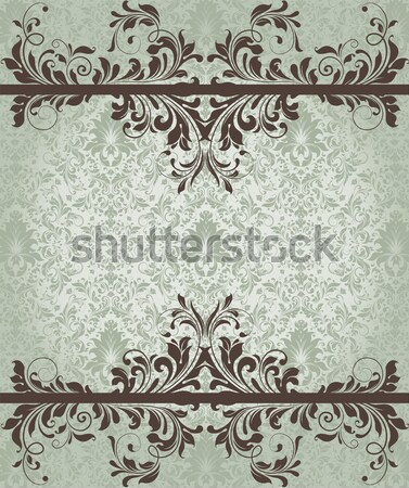 Stock photo: Vintage invitation card with ornate elegant abstract floral desi