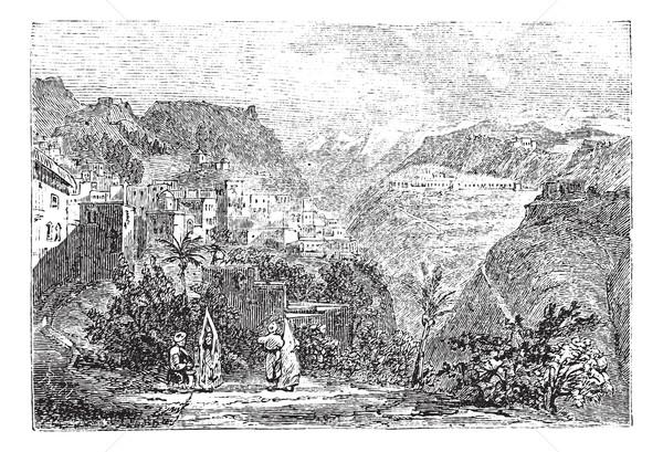Libanon vintage oude gegraveerd illustratie Stockfoto © Morphart