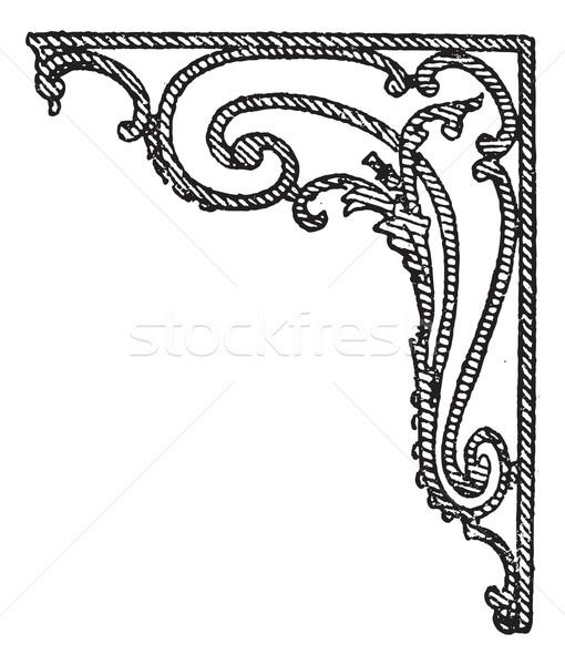 Eisen Stengel Jahrgang Gravur graviert Illustration Stock foto © Morphart