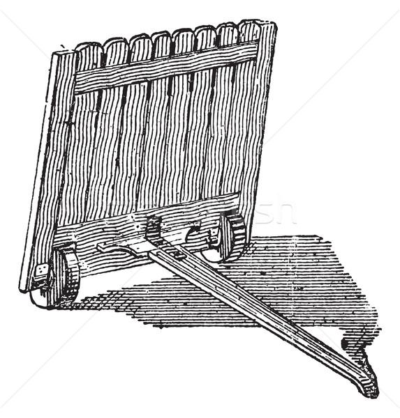 Klasszikus vésés középkor gravírozott illusztráció szótár Stock fotó © Morphart