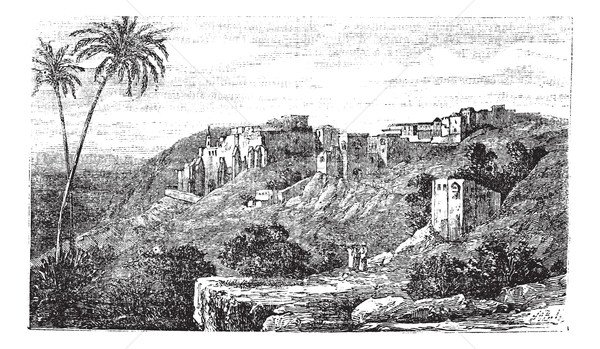 Bethlehem, city, Palestine, Israel, vintage engraving. Stock photo © Morphart