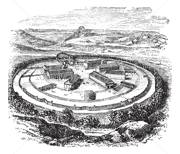 Dartmoor Prison in England, United Kingdom, vintage engraving Stock photo © Morphart