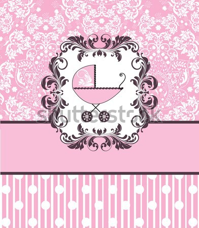 Vintage baby shower invitation card with ornate elegant abstract Stock photo © Morphart