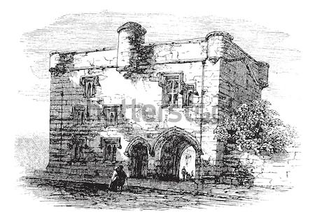 Manor of Camarsac, in Gironde, France, vintage engraving Stock photo © Morphart