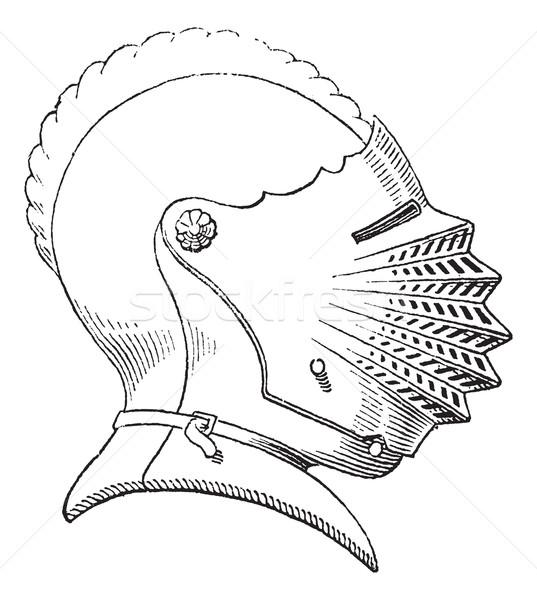 Fifteenth century helmet or galea vintage engraving Stock photo © Morphart