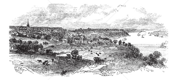 Natchez in Mississippi, USA, vintage engraved illustration Stock photo © Morphart