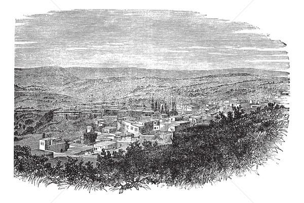 Nord district Israël vintage gravé illustration Photo stock © Morphart