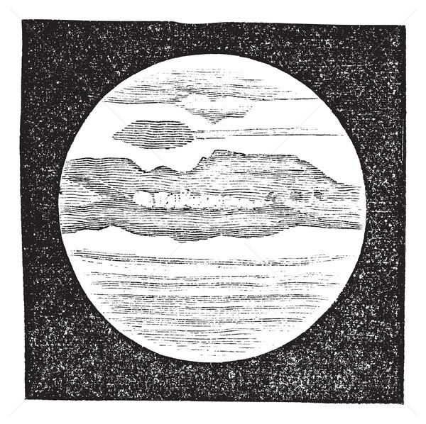 Planety teleskop vintage wyryty ilustracja Zdjęcia stock © Morphart