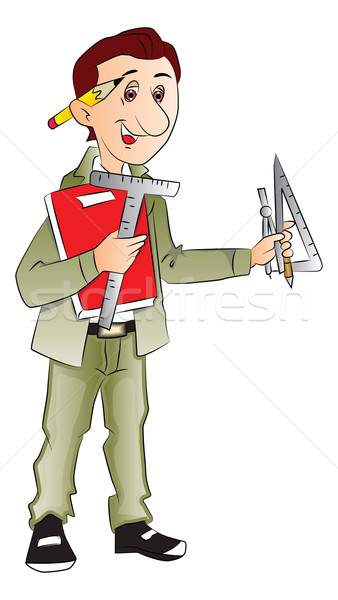 Vector of architect with drafting tools. Stock photo © Morphart