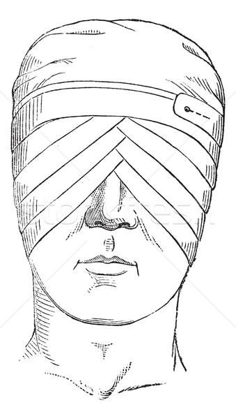 Stockfoto: Vijg · bril · oog · zwachtel · kruisen · twee
