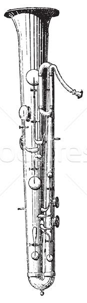 Ophicleide, vintage instrument. Stock photo © Morphart