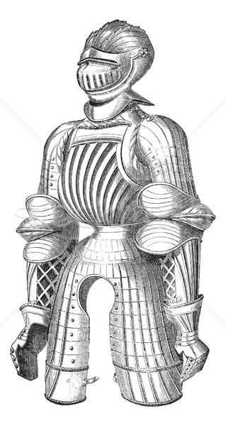 Maximilian armor vintage engraving Stock photo © Morphart