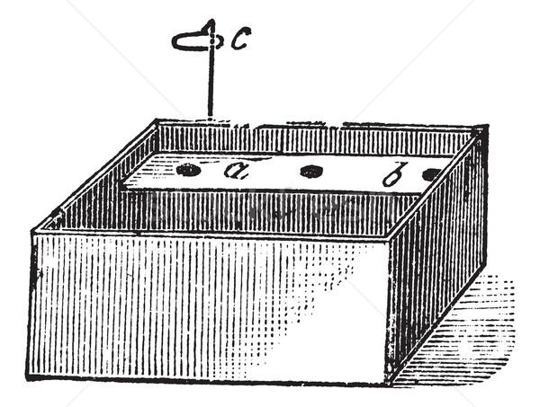 Vintage gegraveerd illustratie encyclopedie water Stockfoto © Morphart