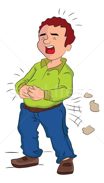 Man pijn illustratie hoofd arm butt Stockfoto © Morphart