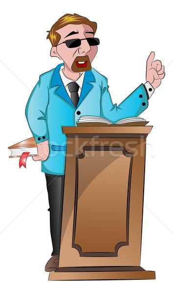 человека за подиум иллюстрация мужчин Сток-фото © Morphart