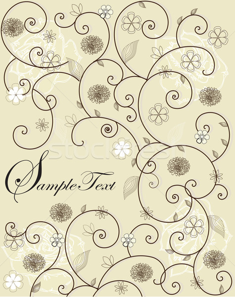 Invitation card with floral design Stock photo © Morphart