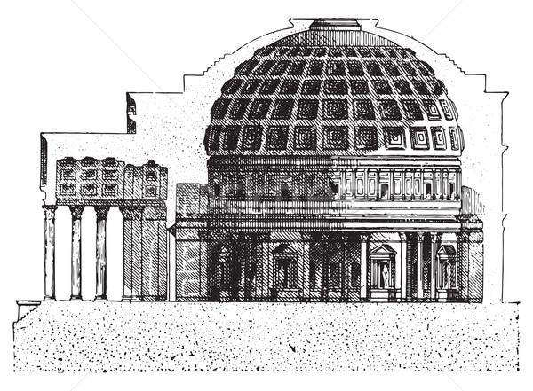 Pantheon, vintage engraving. Stock photo © Morphart