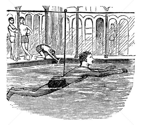 öğrenme yüzmek yardım halat bağbozumu oyulmuş Stok fotoğraf © Morphart