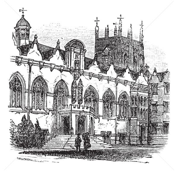 Egyetem Oxford Anglia klasszikus vésés öreg Stock fotó © Morphart