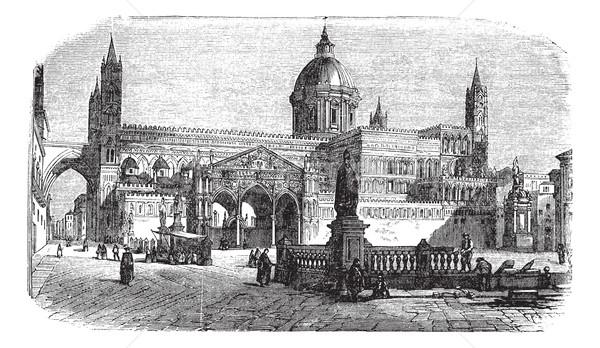 Catedral sicília Itália vintage velho Foto stock © Morphart