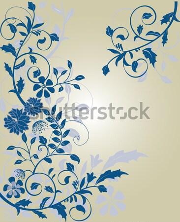 Bağbozumu düğün davetiyesi kart dizayn mor Stok fotoğraf © Morphart