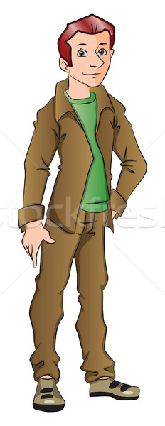 Vector of handsome young man with hand on hip. Stock photo © Morphart