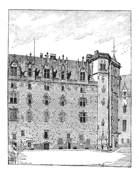 Castle of the Dukes of Brittany, Nantes, Pays de la Loire, Franc Stock photo © Morphart