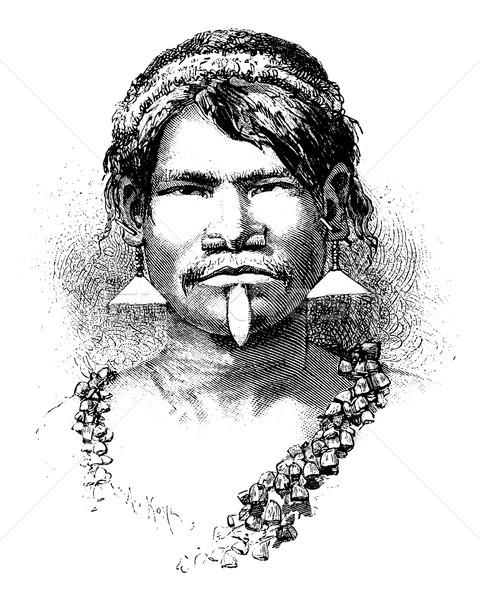 Carijona Indian of Amazonas, Brazil, vintage engraving Stock photo © Morphart