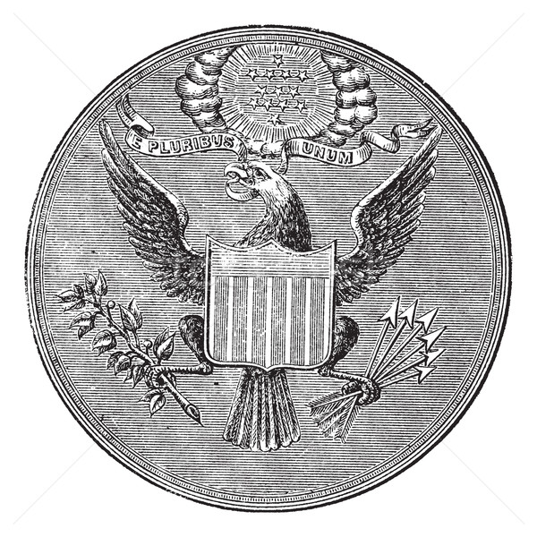 Great Seal of the United States of North America, vintage engrav Stock photo © Morphart