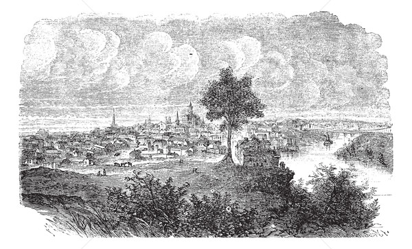 Nashville in Tennessee, USA, vintage engraved illustration Stock photo © Morphart