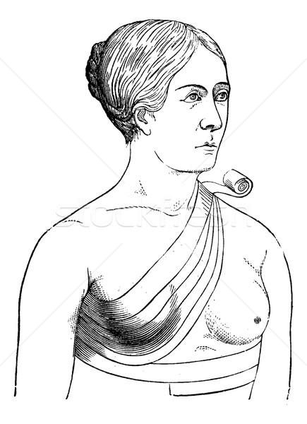 Bandage crosses a breast, vintage engraving. Stock photo © Morphart