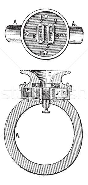 Telephone ader, vintage engraving. Stock photo © Morphart