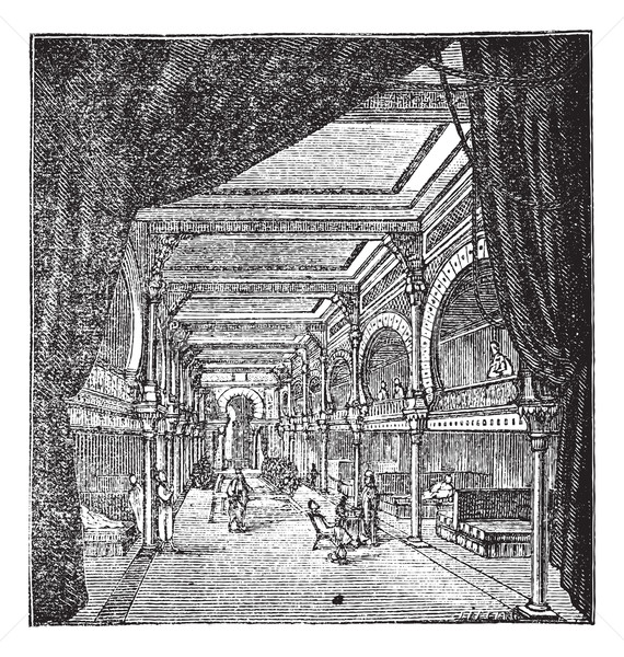 The roman period room for rest vintage engraving Stock photo © Morphart