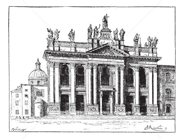базилика святой Ватикан Vintage иллюстрация Сток-фото © Morphart