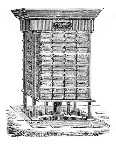 Hydraulisch druk gebruikt productie weefsel papier Stockfoto © Morphart