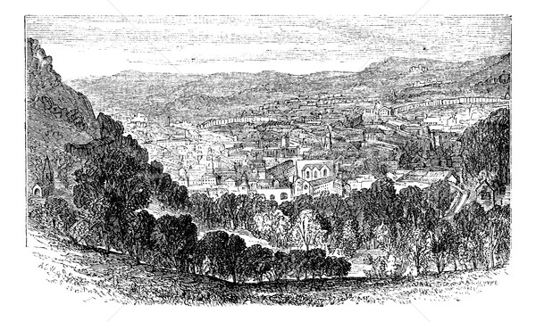 The City of Bath, Somerset, England, vintage engraving.  Stock photo © Morphart