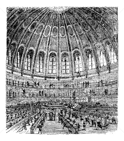 Sketch of the reading room in the British Museum in London, Unit Stock photo © Morphart