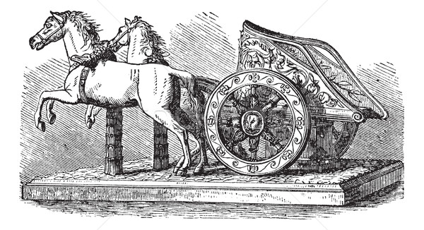 Roman Chariot vintage engraving Stock photo © Morphart