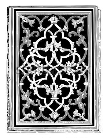 ストックフォト: パネル · 絵画 · 宮殿 · ヴィンテージ · 彫刻 · 刻ま