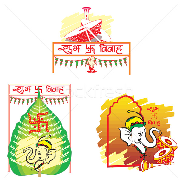 Shubh Vivah, illustration Stock photo © Morphart