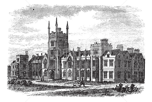 Queen's University in Belfast,Ireland, vintage engraving from th Stock photo © Morphart