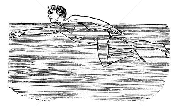 Water vintage gegraveerd illustratie encyclopedie Stockfoto © Morphart