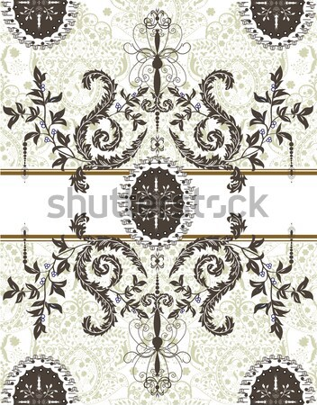 Vintage wedding invitation card with ornate elegant abstract flo Stock photo © Morphart