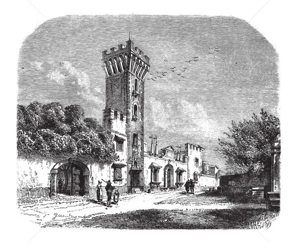 башни дворец Vintage Тоскана Италия Сток-фото © Morphart