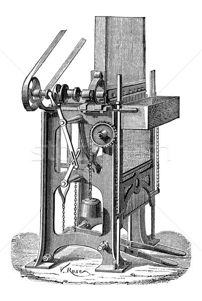 Ottmar Walch Press, vintage engraving Stock photo © Morphart