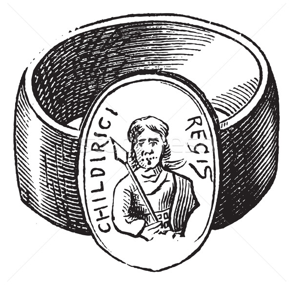 Children finger ring of roman period vintage engraving Stock photo © Morphart