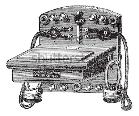Mortar cannon vintage engraving. Stock photo © Morphart